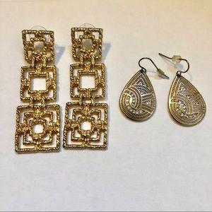 Gold Earring Bundle from Francesca's